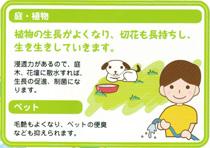 庭・植物 植物の成長がよくなり、切花も長持ちし、生き生きしていきます。 ペット 毛艶もよくなり、ペットの便臭なども抑えられます。